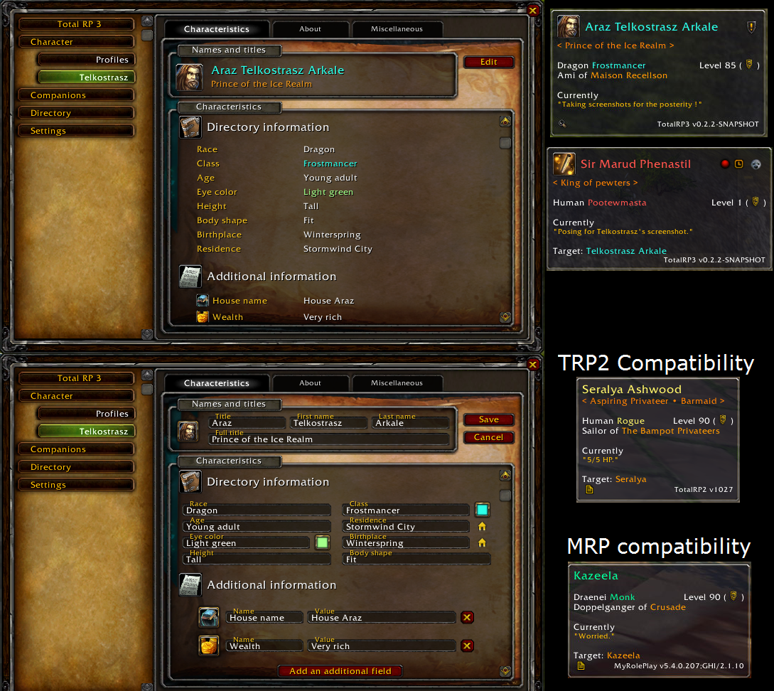 Overview - Total RP 3 - Addons - Projects - WoW CurseForge