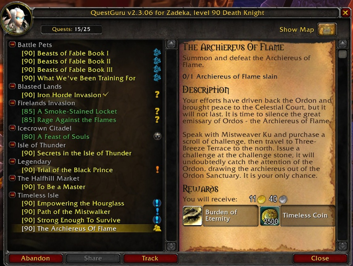 overview - questguru - addons - projects - wow curseforge