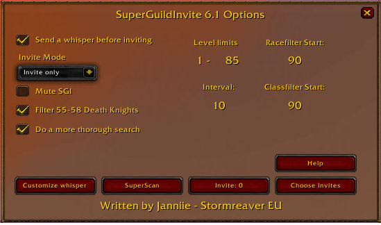 Overview Superguildinvite Addons Projects Wow Curseforge