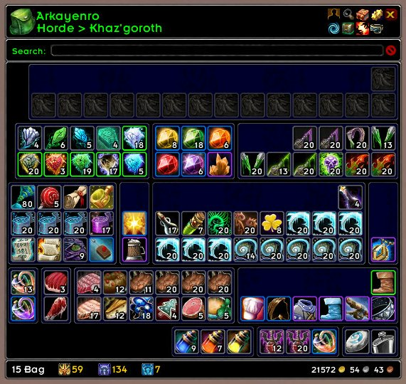 Overview - ArkInventory - Addons - Projects - WowAce