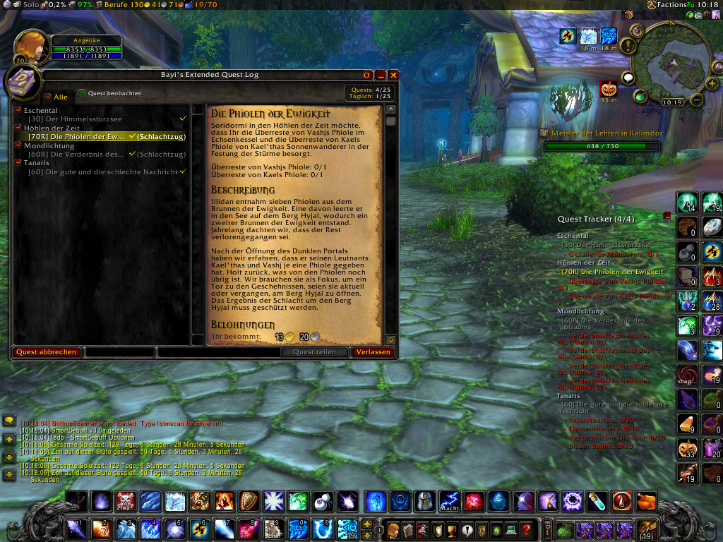 Overview - Bayi's Extended Questlog - Addons - Projects - WowAce