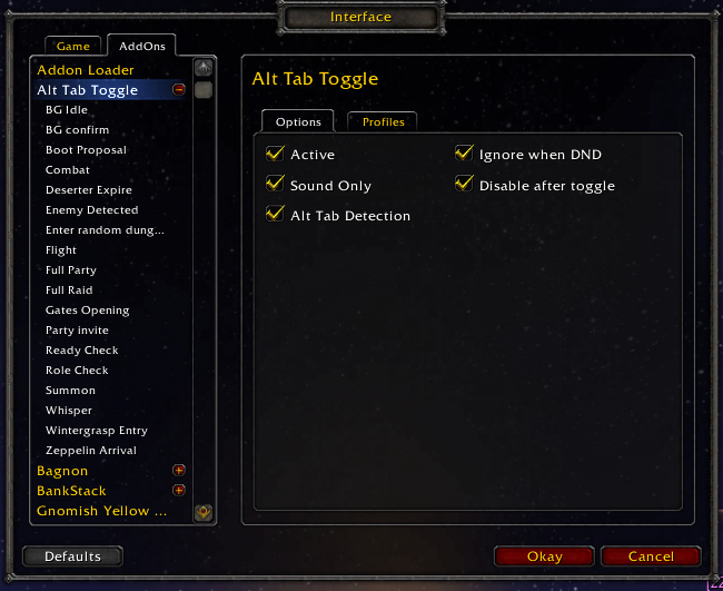 Overview - Alt-Tab Toggle - Addons - Projects - WowAce