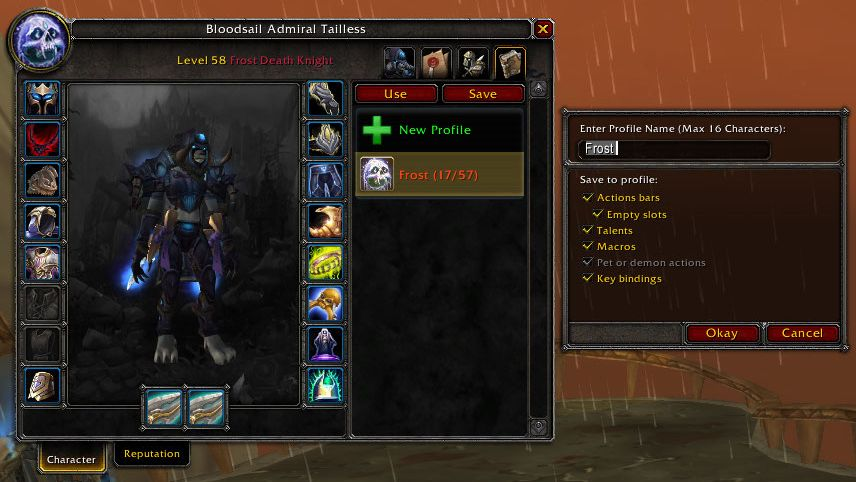 Overview - Action Bar Profiles (Saver) - Addons - Projects