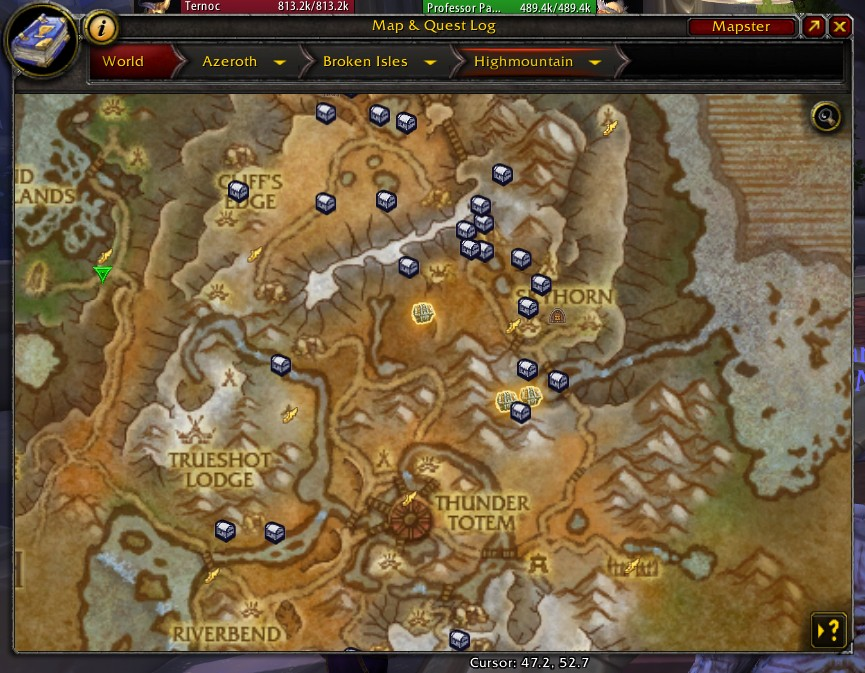 Overview Handynotes Legion Treasures Addons Projects Wowace