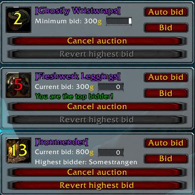 Overview - GDKPd - Addons - Projects - WowAce