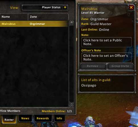Overview Ouro Guild Alts Addons Projects Wowace
