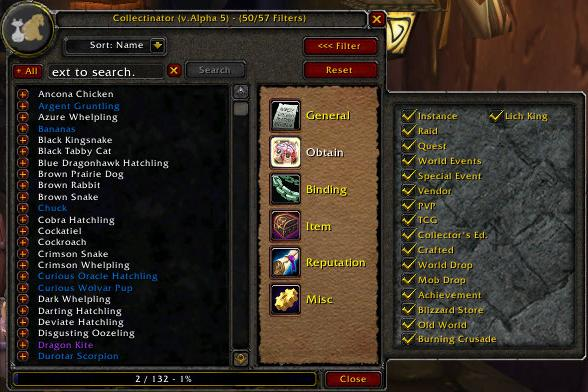 Overview - Collectinator - Addons - Projects - WowAce