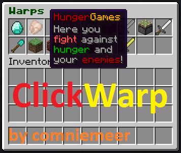 Overview ClickWarp Bukkit Plugins Projects Bukkit - Minecraft server erstellen mit mods 1 7 10