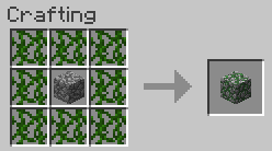 How To Craft Mossy Stone Bricks