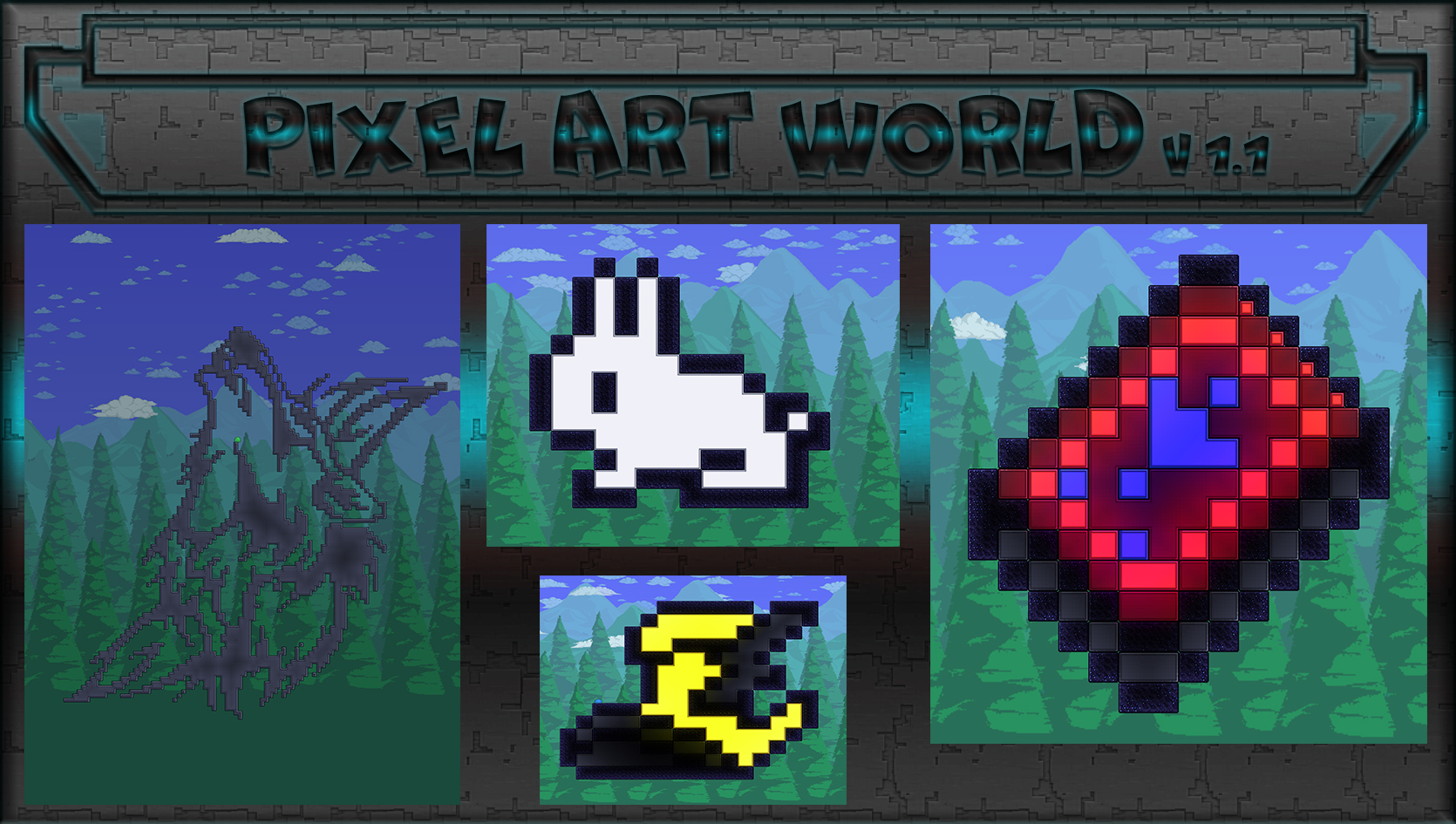 Images Pixel Art World Maps Projects Terraria Curseforge