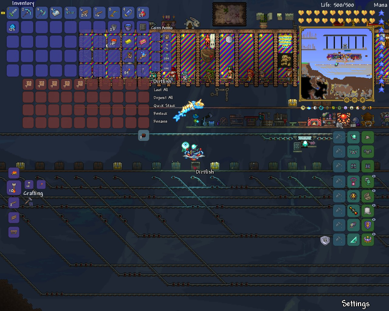 Overview fishing village maps projects terraria for Fish finder terraria