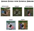 Damage Panels with National Emblems